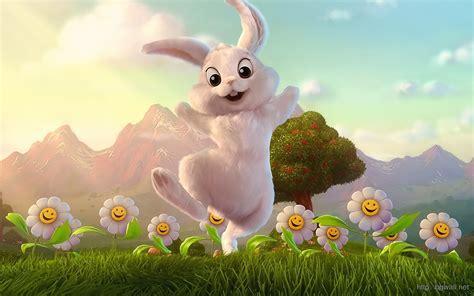 wallpaper cartoon bunny cute cartoon easter bunny wallpaper