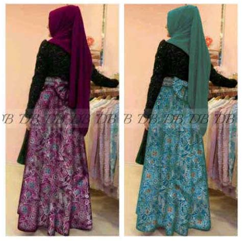 Nirina Dress baju gamis pesta batik nirina p897 gaun pesta brokat