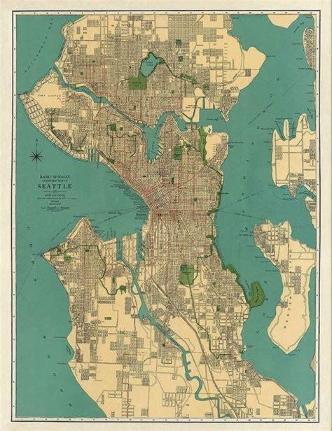 seattle eca map m 225 s de 1000 ideas sobre mapas antiguos en