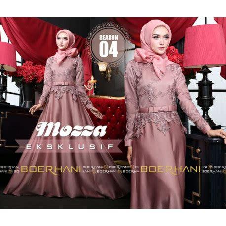 Syari Mozza Hanggono Tosca Green mozza 4 d pink baju muslim gamis modern