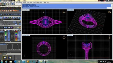 autocad jewelry tutorial using gemvision matrix s custom ring rail builder to make