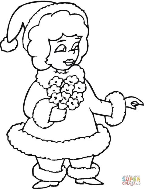 mr and mrs santa claus printable coloring pages coloring