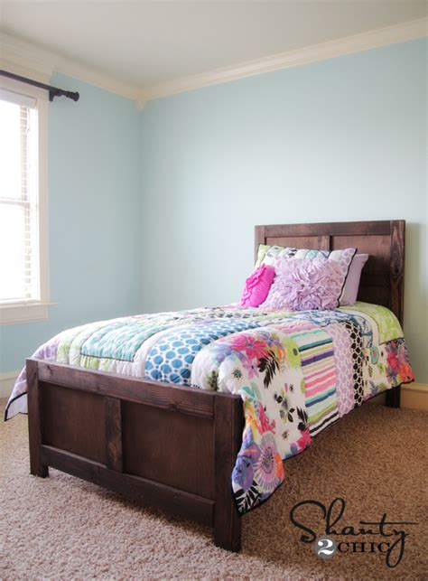 diy bed diy bed pottery barn inspired shanty 2 chic