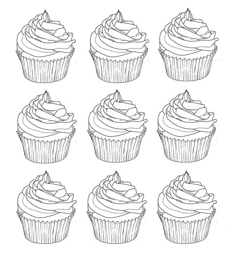 coloring pages for adults cupcakes cup cakes coloring pages for adults coloring cupcakes