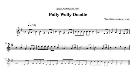 row row your boat hidden meaning polly wolly doodle trad american free flute sheet