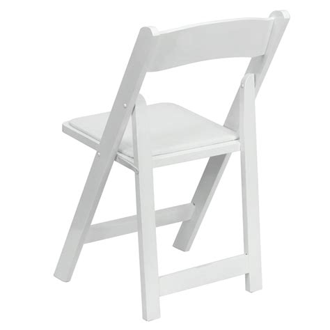 White Wood Chairs by Hercules Series White Wood Folding Chair With Vinyl Padded