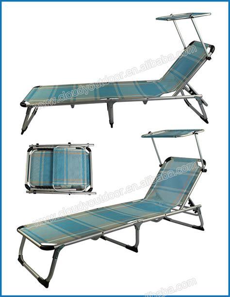 folding beach chaise outdoor folding beach chaise longue with sunshade buy
