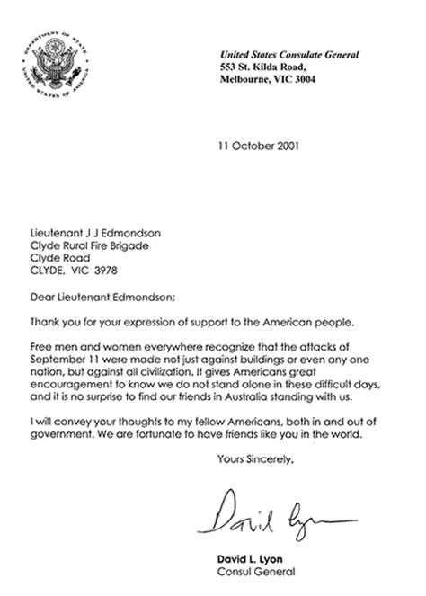 Us Embassy Letter Letter From The Us Consulate General
