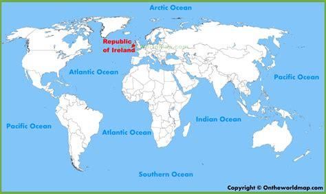 ireland location on the world map