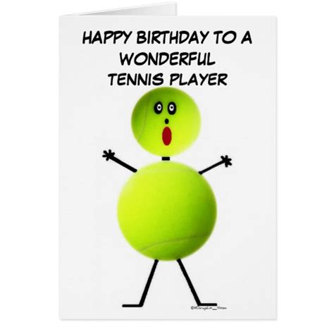 Tennis Birthday Cards Love Tennis Cards Photo Card Templates Invitations More