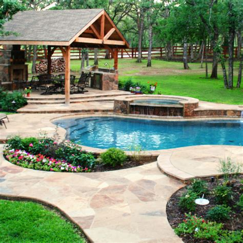 pool landscape poolside landscaping gohlke pools