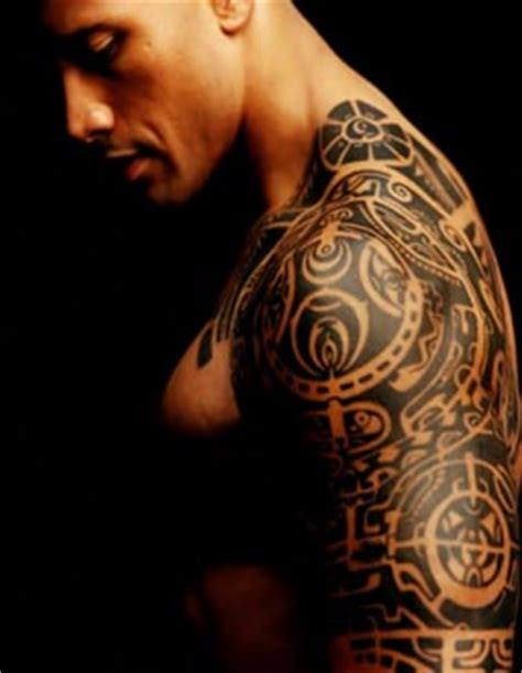 dwayne johnson tattoo quot the rock quot samoan tattoo meaning