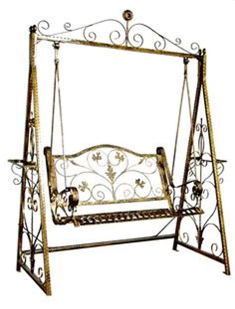 wrought iron swing seat details about swing chair designer hand crafted iron swing