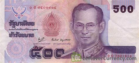currency thb 500 thai baht king rama ix exchange yours for