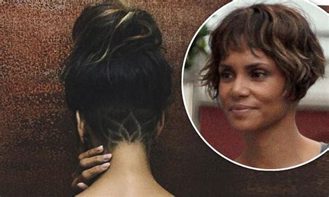 Halle Berry New Hairstyle by Halle Berry Debuts New Hairstyle With Lotus Design On