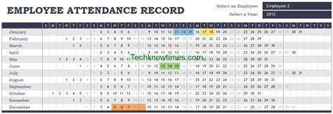 Attendance Tracker Excel Template Employee Monthly Attendance Sheet Template Excel