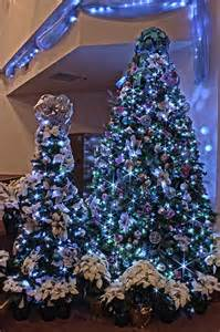 Silver purple and blue themed christmas tree in led lights flickr