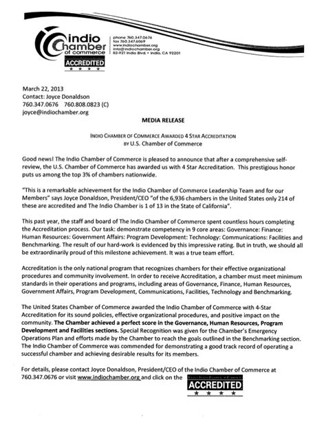 Release Letter To Manager accreditation media release and institute of organization