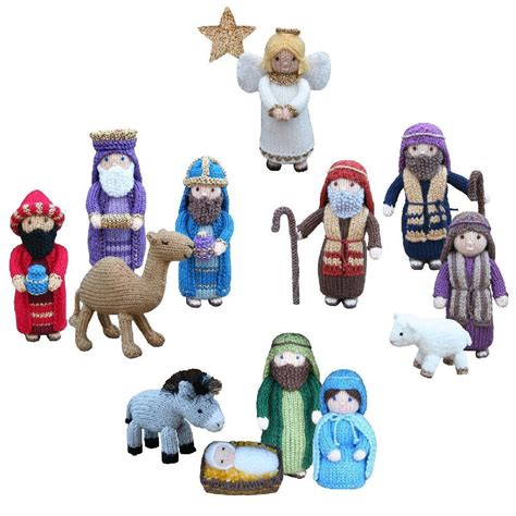 patterns for christmas nativity christmas nativity collection knitting pattern by