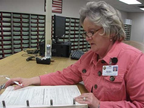 Floyd County Court Records Barbara Penson Clerk Of Floyd County Superior Court Examines A Deed Book In