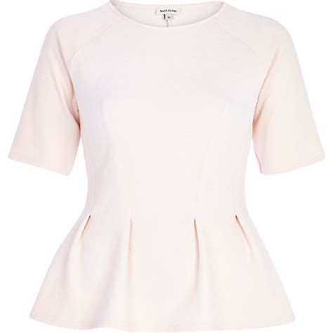 light pink sleeve top light pink textured half sleeve peplum top peplum tops