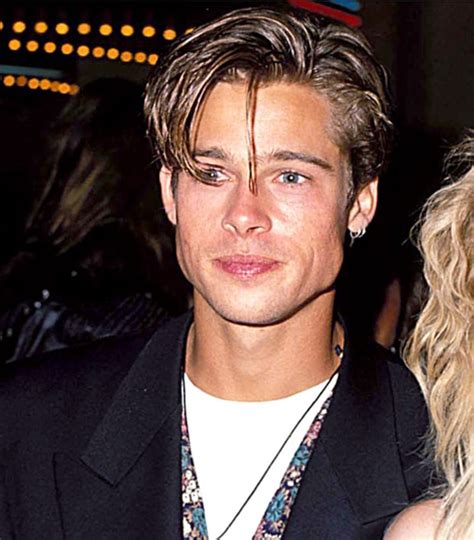 hairstyles male 23 years old sept 9 1990 brad pitt s hair evolution us weekly