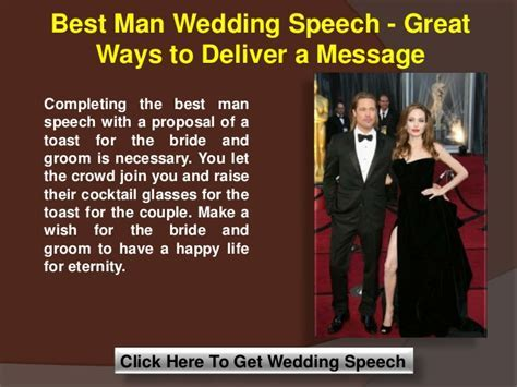 Best man wedding speech great ways to deliver a message
