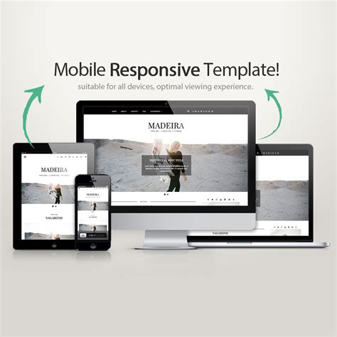 wordpress theme madeira blogger templates wordpress