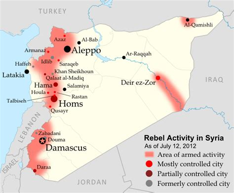 syrian war map islamic state in maps
