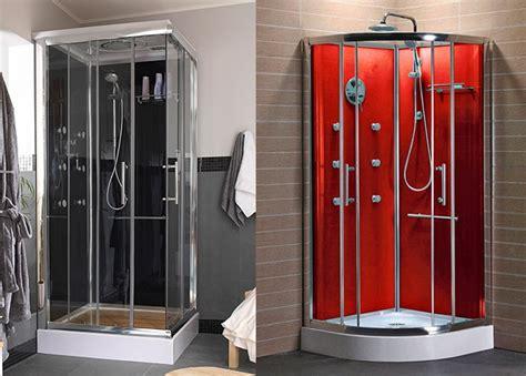 tuvieses  elegir una cabina de ducha  tu bano cual te gustaria mas negra  roja