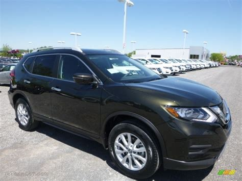 2017 Midnight Jade Nissan Rogue Sv Awd 120350643 Photo