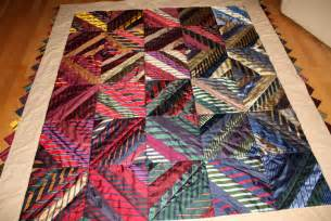 custom necktie quilt made using mens neck by happyquiltdesigns