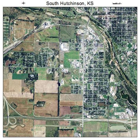 Hutchins Kansas Aerial Photography Map Of South Hutchinson Ks Kansas