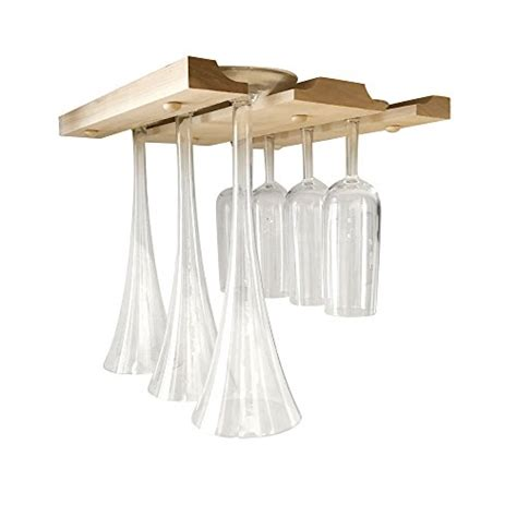 The Counter Wine Glass Rack by Cabinet Wood Wine Glass Rack Hanging Holder For