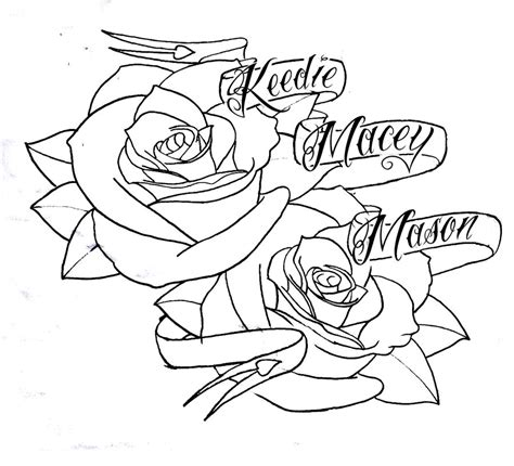 rose and banner tattoo designs roses n banner by bmxninja on deviantart