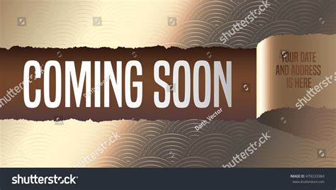 opening soon flyer template grand opening coming soon vector banner stock vector 479233384