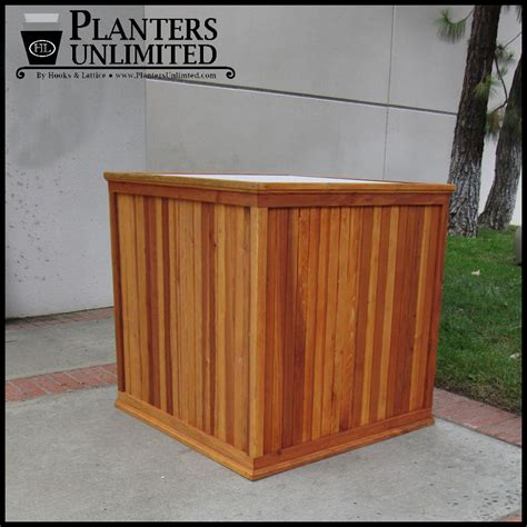 large commercial planters large commercial redwood planters planters unlimited