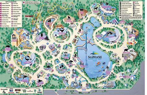 sea world florida map seaworld orlando florida theme parks