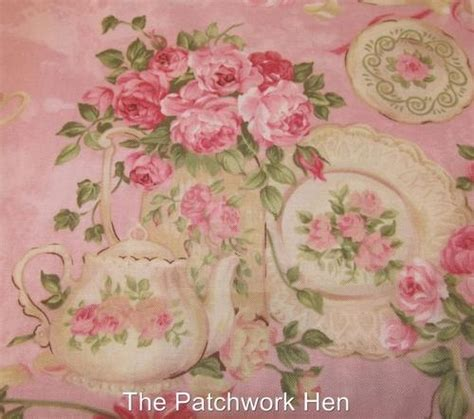 shabby cottage chic rose garden tea for two fabric by ro gregg 2667 by the yard gardens