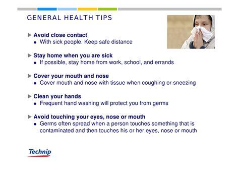 general health tips avoid