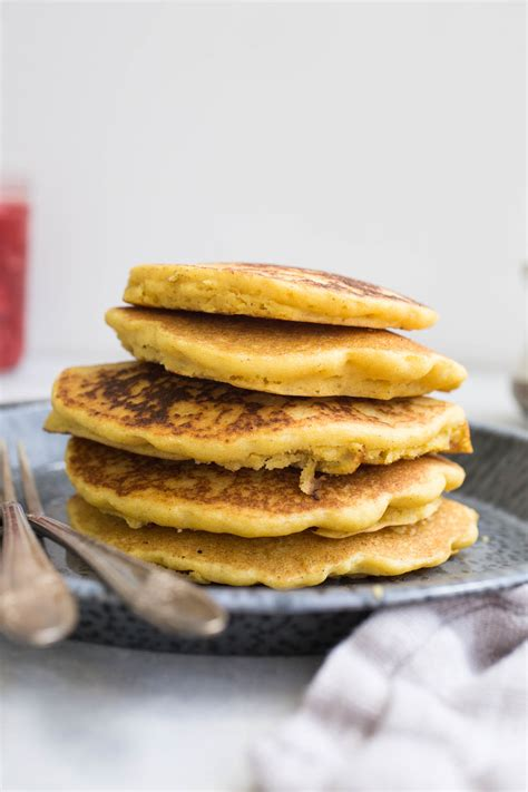 pancake flour corn flour pancakes with strawberry compote gluten free
