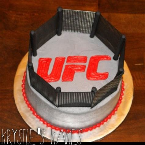 ufc fighting octagon grooms wedding cake cakelife  sweet pinterest wedding grooms
