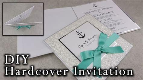 diy nautical hardcover invitation wedding