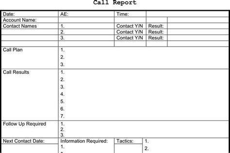 sales rep call report template report template free premium templates forms sles for jpeg png pdf word