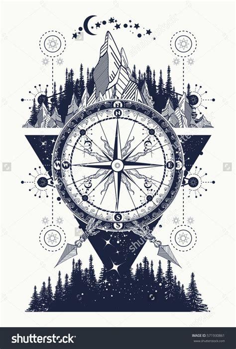 compass tattoo prints m 225 s de 25 ideas incre 237 bles sobre br 250 jula en pinterest