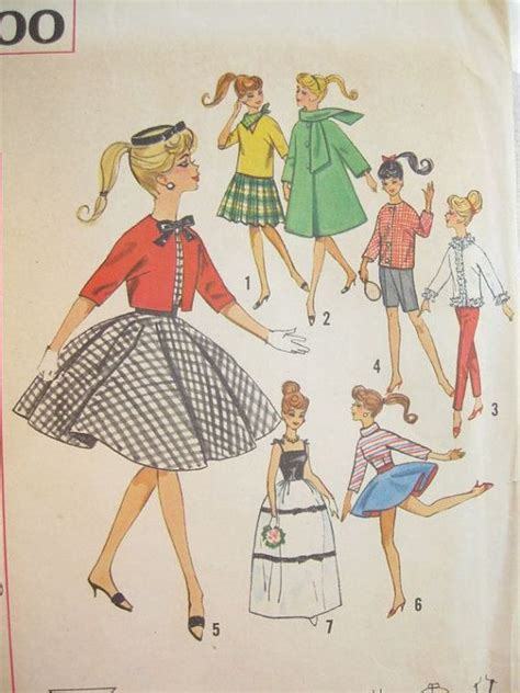 picture sewing pinterest patterns and dolls simplicity 4700 1960s barbie doll clothes vintage sewing