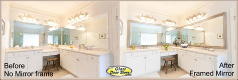 Framing Existing Bathroom Mirrors Framing An Existing Bathroom Mirror Home Remodel 4899