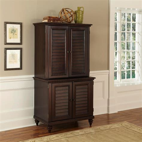 small computer cabinet with doors home styles espresso bermuda compact computer cabinet and