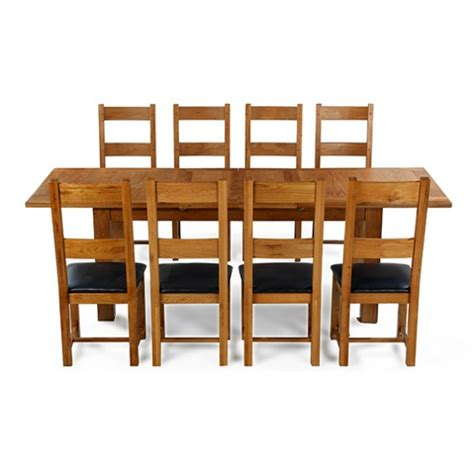 oak extending dining table and 8 chairs emsworth oak 180 250 cm extending dining table and 8