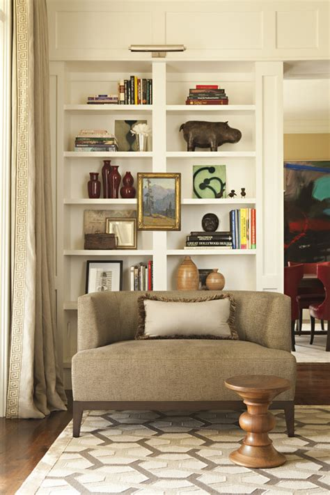 open shelving living room taming open shelves home interior design ideas